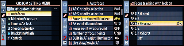 Figure 1 – Focus tracking with lock-on configuration