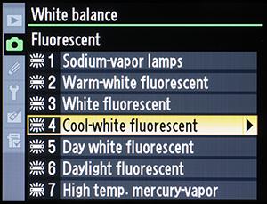 Figure 3 – Fluorescent's seven selections