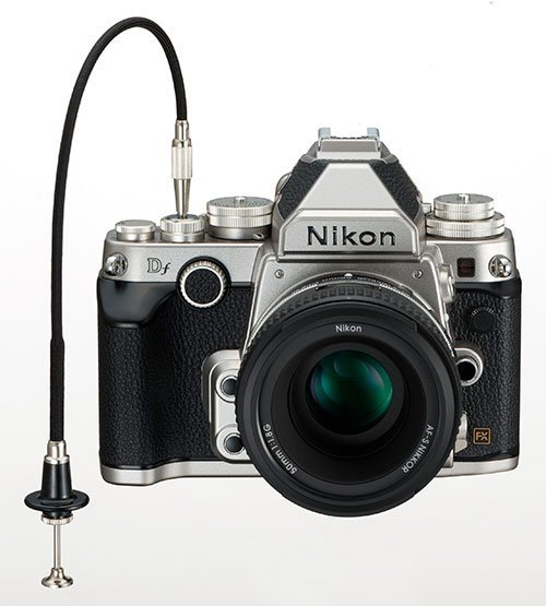 Nikon Df – uses a standard mechanical release cable