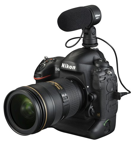 Nikon D4S and ME-1 Microphone