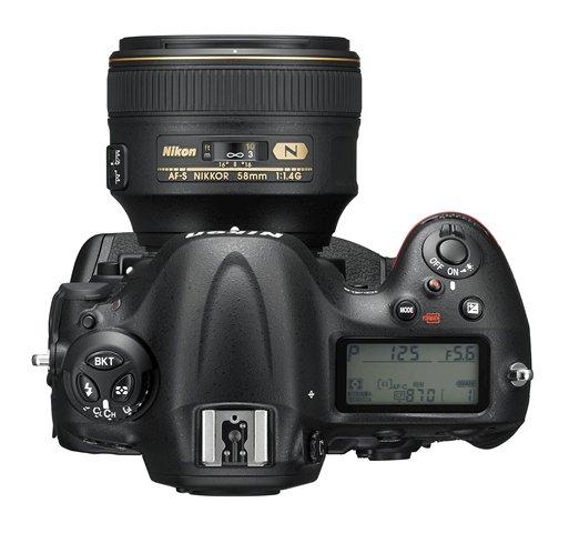 Nikon D4S, Top View