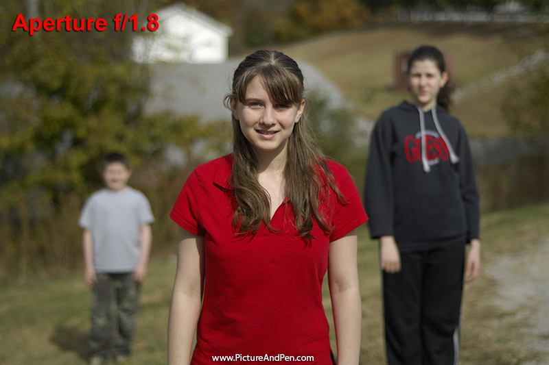 Figure 4.7: Three young people at f/1.8, shutter speed at 1/6000s, 100 ISO