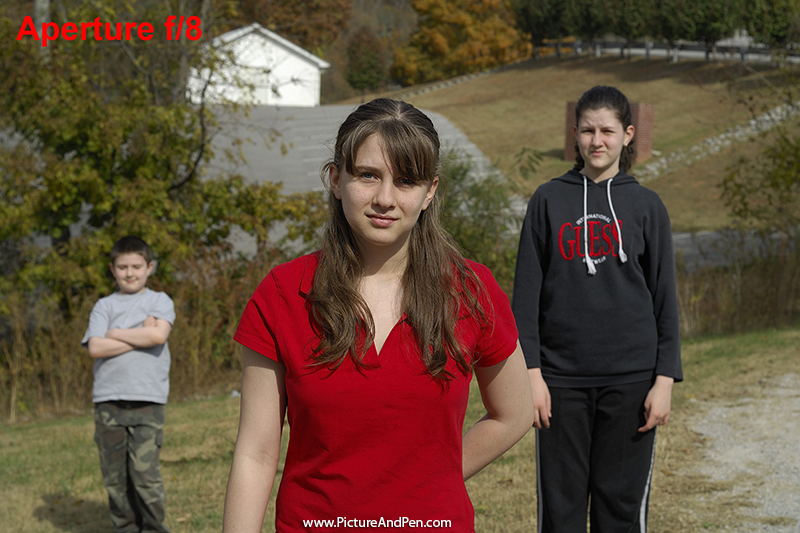 Figure 4.8: Three young people at f/8, shutter speed at 1/500s, 100 ISO