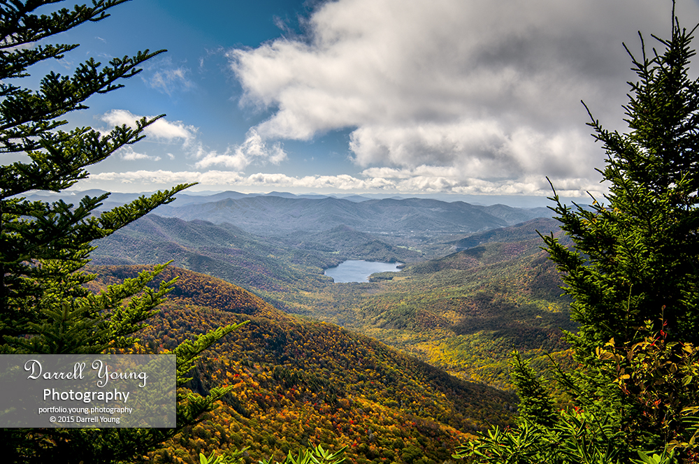 Lake on Blue Ridge Parkway in autumn. © 2015 Darrell Young