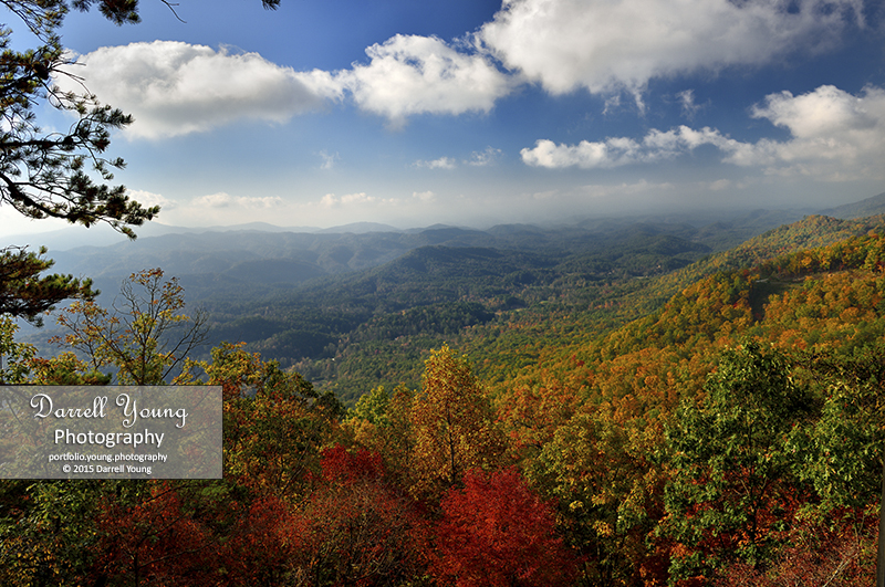 Foothills Parkway near Look Rock in Autumn at Great Smoky Mountains. © 2015 Darrell Young